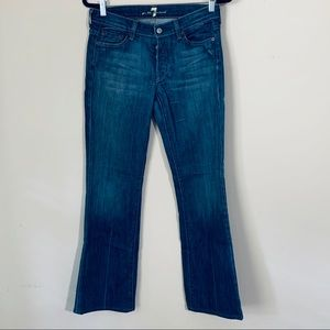 7 for all man kind flare jeans button fly 27